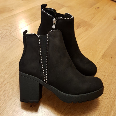 Chloe Black Suede Ankle Boots