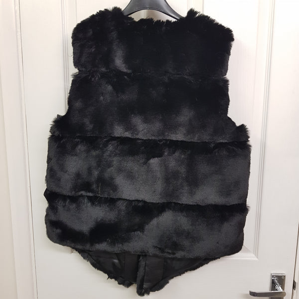 Gemma Faux Fur Gilet - Black