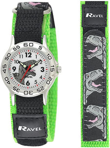 Children's Dinosaur Watch with Easy Fasten Action Strap