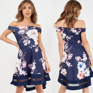 Adaline Floral Bardot Dress