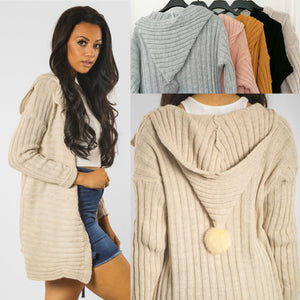Misty Pom Hooded Cardigan - 5 colours