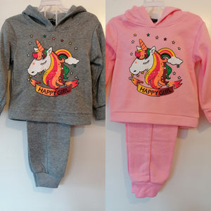 Younger Girls Unicorn Tracksuit - 2 Colours