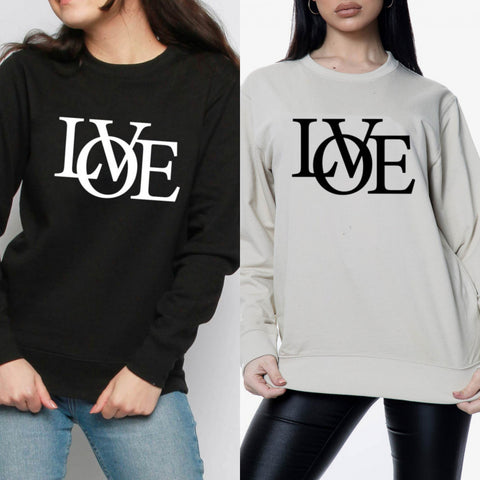 Gianna Love Slogan Sweatshirt - 2 colours