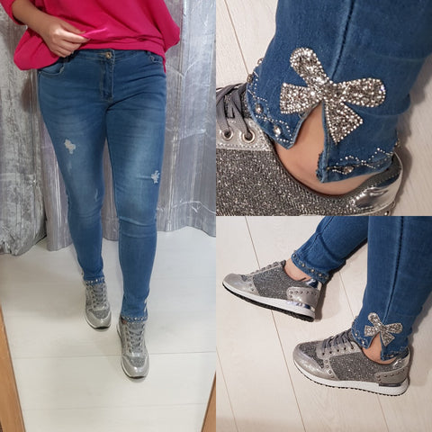 Ruby Bow Jeans