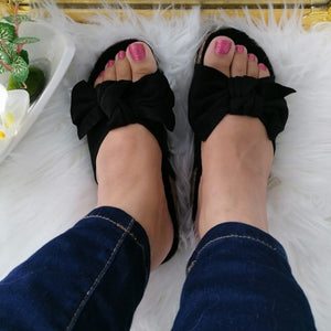 Riley Bow Sandals - Black