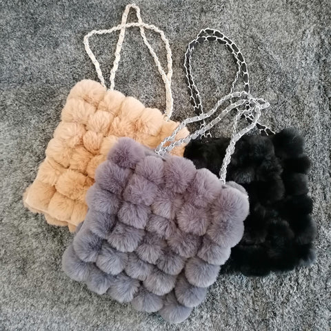 Natalie Faux Fur Handbag - 3 colours