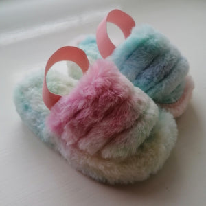 KIDS Fluffy Faux Fur Slippers