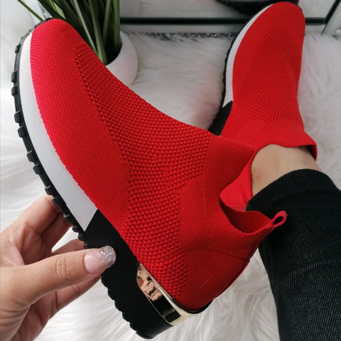 Ariana Sock Trainers - Red