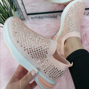 Hannah Sparkle Sock Trainers - Pink