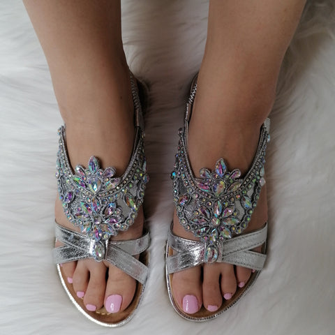 Lina Diamante Sandals
