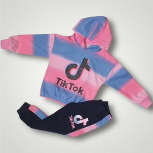 Girls Tik Tok Diamante 2 Piece Set