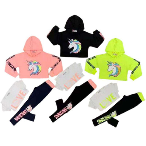Girls Unicorn Forever 3 Piece Set - 2 colours