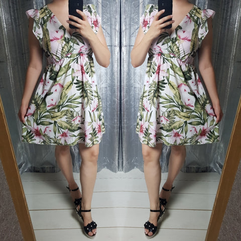 Evie Floral Dress - White