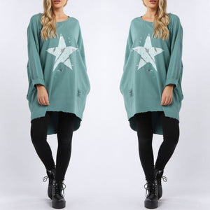 Adalyn Foil Star Top