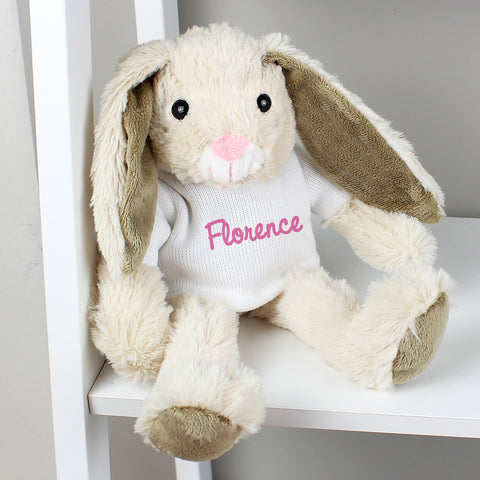 Personalised Bunny Rabbit - Pink