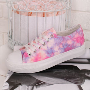 Polly Tie Dye Trainers - Purple