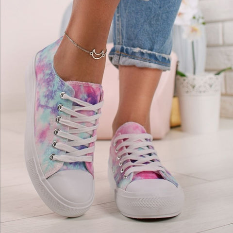 Polly Tie Dye Trainers - Blue
