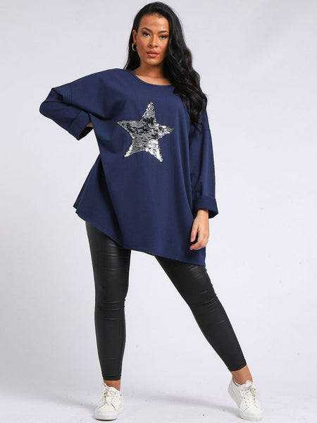 CURVE Jessy Sequin Star Top - 2 colours