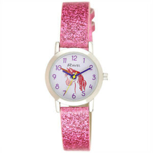 Unicorn Design Pink Sparkle Glitter Watch