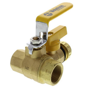 Ball valve with drain