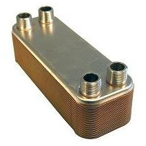 "20~100 Plate Brazed Plate Heat Exchanger Water to Water 1"" FPT Ports AISI 316L Stainless Steel (5x12""/8x24"")"