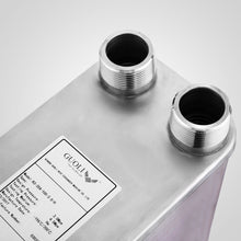 "30 Plate Brazed Plate Heat Exchanger Water to Water 1"" FPT Ports AISI 316L Stainless Steel (5x12)"""