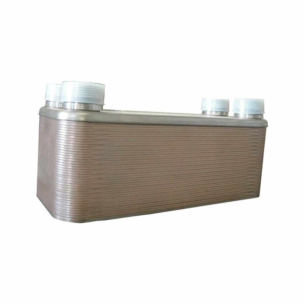20~100 Plate Brazed Plate Heat Exchanger Water to Water 1