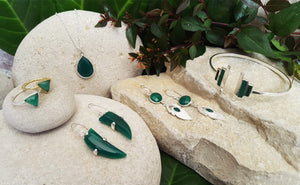 GREEN ONYX GEMSTONE AUTHENTIC JEWELLERY