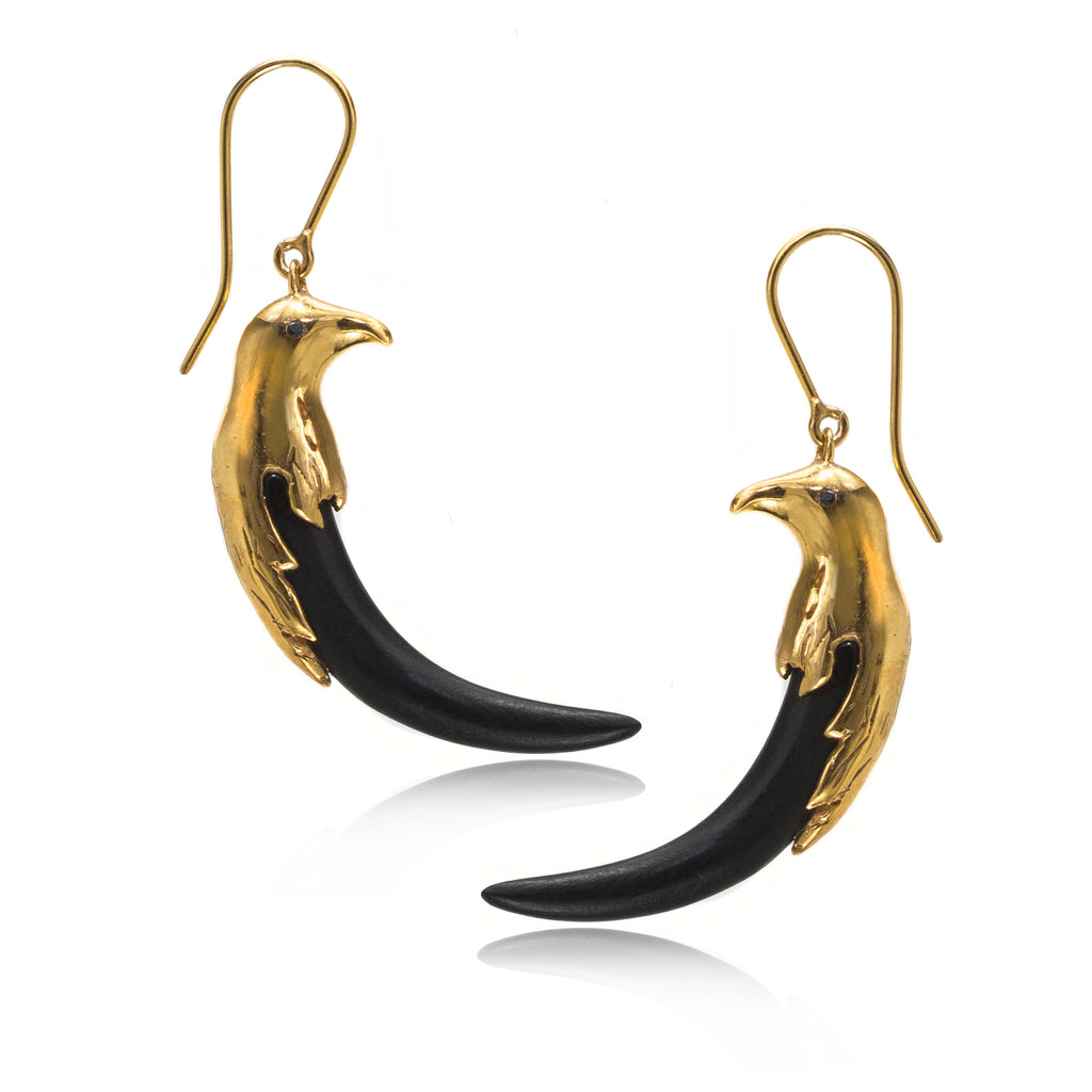 GOLDEN EAGLE HOOK EARRINGS