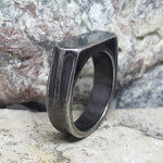 INDUSTRIAL ANTIQUE VITALY SILVER RING