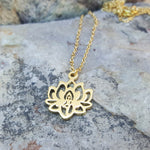 LOTUS GOLD NECKLACE