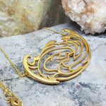 RIVER AND KOI FISH GOLD NECKLACE