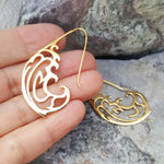 RIVER AND KOI FISH GOLD EARRINGS