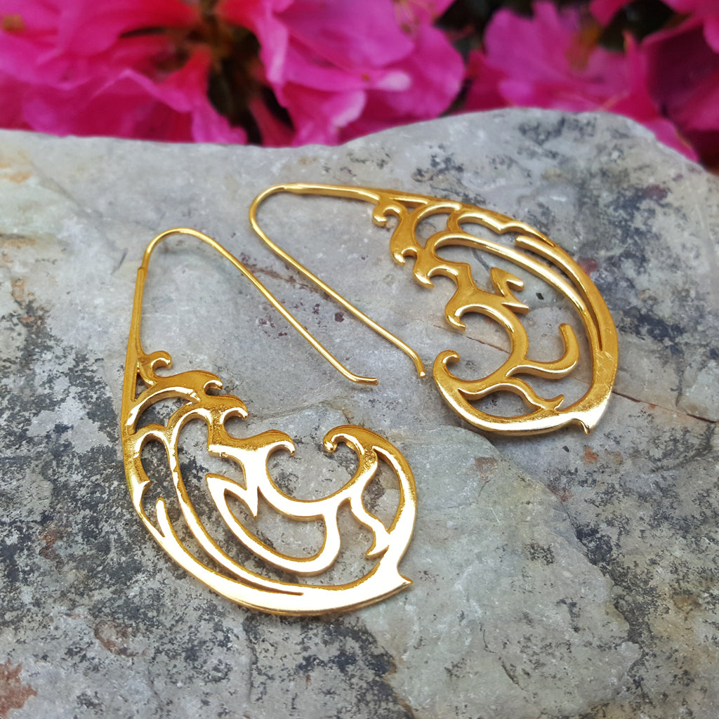 RIVER AND KOI FISH SET OF NECKLACE AND EARRINGS