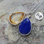 TEARS OF KALI LAPIS LAZULI AND CITRINE SET SILVER