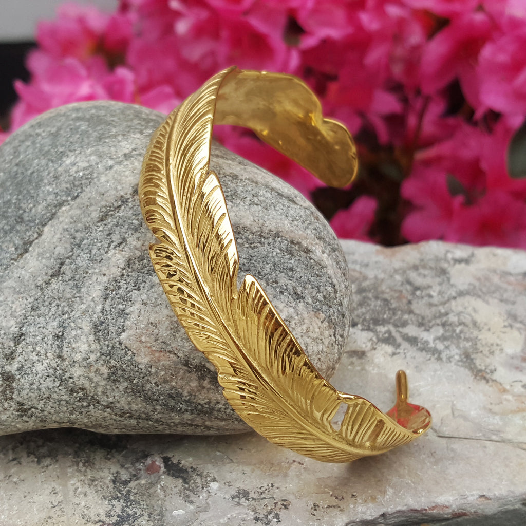 MAXI FEATHER GOLD BRACELET