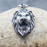 THE LION OF STEEL SILVER NECKLACE