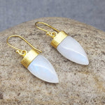 PETALS OF MOONSTONE GOLD EARRINGS
