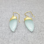 PETALS OF AQUA HOOK EARRINGS