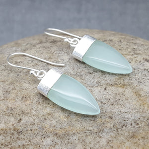 PETALS OF AQUA SILVER EARRINGS