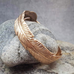MAXI FEATHER ROSE GOLD BRACELET