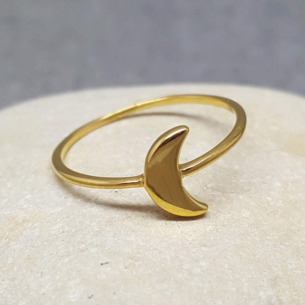 MINI MOON GOLD RING