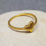 MINI HEART GOLD RING