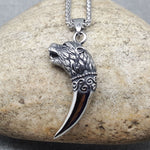 WOLF TUSK STEEL NECKLACE