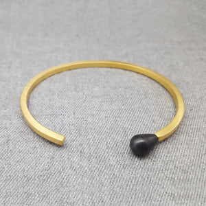 MATCH GOLD AND BLACK BRACELET