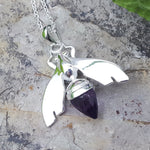 QUEEN BEE AMETHYST SILVER NECKLACE
