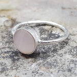 ROSES PINK CHALCEDONY SILVER RING