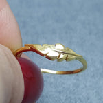 MINI LEAF GOLD RING
