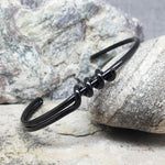 TWISTED BLACK BRACELET