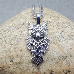 THE OWL OF STEEL NECKLACE